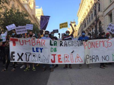Manifestations pour les sans-papiers à Madrid