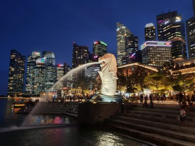Singapore skyline. Wikimedia Commons