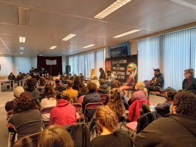 Accueil délégation zapatiste à Bruxelles