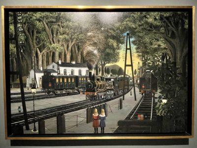 Paul Delvaux - l'homme qui aimait les trains.