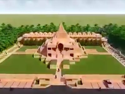 Artist's depiction of the planned monastery. From Facebook.com