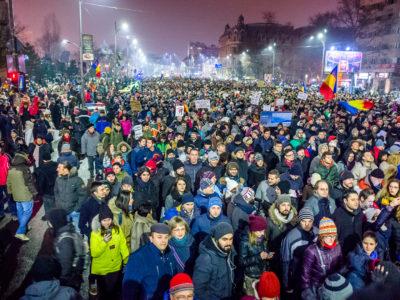 Protest against corruption - Bucharest 2017